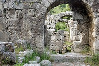 ROMAN BATHS IN THE ANTIQUE CITY OF PHASELIS, ANTALYA REGION, TURKEY