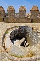 Serpa, Stone stairs at Castle, Baixo Alentejo, Portugal, Europe.