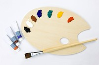 Palette and paintbrush (thumbnail)