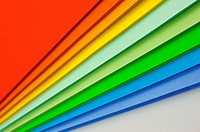 Stacks of color paper