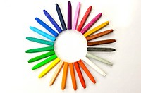 Crayons forming a circle