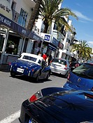 Luxury car in Puerto Banus, one of the most elegant places in Costa del Sol, Andalucia, Spain