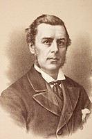 Joseph Chamberlain 1836 to 1914  Influential British businessman, politician, and statesman  From Gladstone and his Contemporaries, published circa 18...