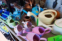 sale,gift store, shopping,travel,gifts,watering cans,colorful,different shape