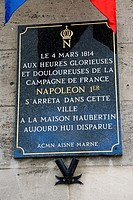 France, Champagne-Ardenne, Marne 51, Fismes - Historical board remembering the stay of Napoleon 1st in 1804 in town