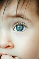 Infant's eye, close_up