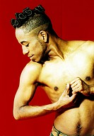 Male dancer practicing in a studio (thumbnail)
