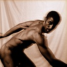Male naked dancer dancing