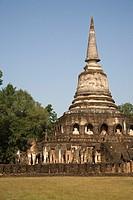 Wat Chang Lom, Si Satchanalai. Thailand