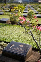 Allied War Cemetery, Kanchanaburi. Thailand
