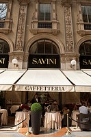 Savini Restaurant in the Vittorio Emanuele II Shopping Gallery in Milan, Italy