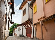 Old Ottoman period houses in the Varossi quarter of Edessa, Macedonia, Northern Greece