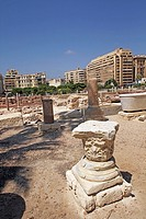 The Roman theater of Kom El-Dika, Alexandria. Egypt