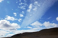 BROWN MOUNTAIN LANDSCAPE, DESERT_LIKE ROUTE IN EASTERN ICELAND, EUROPE, ICELAND