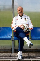 Vicente del Bosque, the coach of the national soccer team of Spain