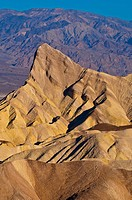 Rock formations in the morning, Zabriskie Point, Death Valley National Park, California, USA