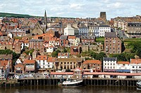 Whitby is a town and civil parish in the Scarborough district of North Yorkshire on the north-east coast of England  Nowadays it is a fishing port and...