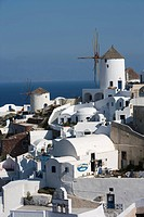 Greece, Cyclades, Santorini, Oia, windmill                                                                                                            ...