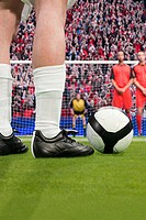 Free kick during a football match (thumbnail)