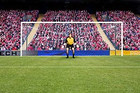 Goalkeeper standing in goal (thumbnail)