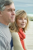 Mature couple at the coast