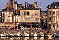 France, Normandy, Honfleur, the harbour                                                                                                               ...