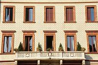 Facade of a building ...