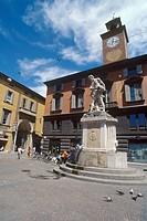 Italy, Emilia Romagna, Reggio Emilia, Piazza Prampolini,Palazzo del Monte ...