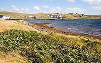 Village of Walls, Mainland, Shetland Islands, Scotland
