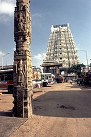188 feet high Rajagopuram in Ekambareswara Temple, Siva-Saivite, Kanchipuram, Tamil Nadu, India