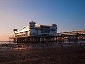 The rebuilt Grand Pier at Weston-super-Mare undergoing final preparations for it's imminent reopening  North Somerset, England, United Kingdom