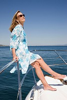 Woman in yacht