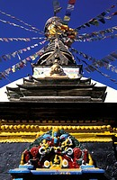 Nepal, Katmandu. Kathesimbu Stupa