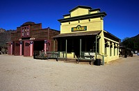 USA, Arizona, Old Tucson, reconstruction of old west town