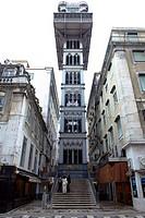Portugal, Lisbon, Santa Justa Elevator.