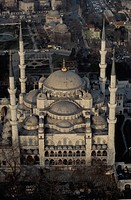 Turkey, Istanbul.The Blue mosque, aerial view