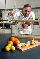 Scientists tests ORANGES and LEMONS for chemical properties