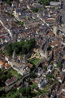 France, Centre, Loches, aerial view