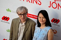 Woody Allen and wife Soon-Yi at the premiere of the film 'You Will Meet a Tall Dark Stranger', Aviles, Asturias