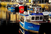 Fishing boats in the port of Ribadesella, Asturias