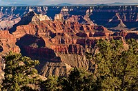 Bright Angel Point, Grand Canyon Lodge, North Rim, Grand Canyon Nationalpark, Arizona, USA