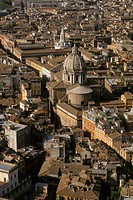 Rome aerial view.