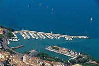 Italy, Lombardy, Garda lake, Desenzano aerial view