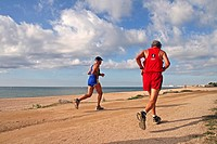 running, Canet de Mar, Catalonia, Spain.