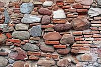 stone and brick wall.