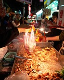 Food stand in Taipei, Taiwan