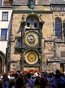 Astronomical Clock at Old Town Square in Prague Czech Republic