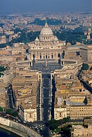 Rome,The Vatican, aerial view