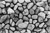 Black and White monochrome horizontal rocks stone patterns shapes grid