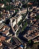 Trentino Alto Adige, Trento, aerial view